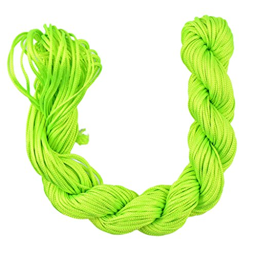 9.2 m 30 10yrd Vert Nylon Cordon Macram/é Fil de Perles de la Cha/îne de Corde Tress/ée Kumihimo Noeud Bracelet de Shamballa de la Ficelle de 2mm .079in