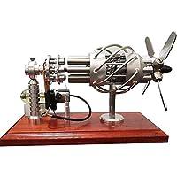 STEMロボットスターリングエンジンモーター、モデル16シリンダー、ステンレス鋼のホットシリンダーとガラスピストンを備えた熱風スターリングエンジン、
