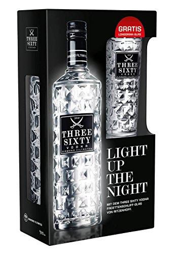 Three Sixty Vodka mit Original Glas (1 x 0,7l)