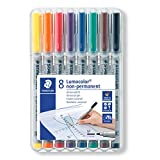 Lumocolor 315 WP8 -  Pack de 8 rotuladores de tinta no permanente, colores surtidos