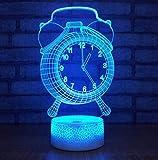 Ilusión 3D Luz Nocturna Luz Del Estado De Ánimo Reloj...