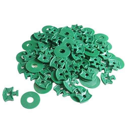 KINGLAKE 100 Stücke Gewächshaus Twist Clips Shading Befestigung Clips mit Scheiben für Aluminium Gewächshaus Isolierung Blase Netting Schattierung