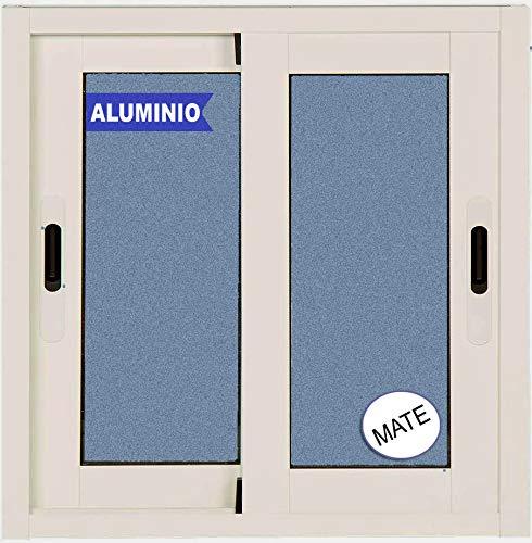 Ventana Aluminio Corredera 600 ancho x 500 alto 2 hojas. Cristal carglass (Climalit Mate)