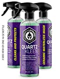 SPARTANSTRONG Quartz KLEEN 3 in 1 Waterless Car Wash, Ceramic Coating & Wax Spray SiO2 Polymer Hydrophobic Technology Car Cleaning & Protection Product for Fast Car Detailing 1 16 Oz Bottle