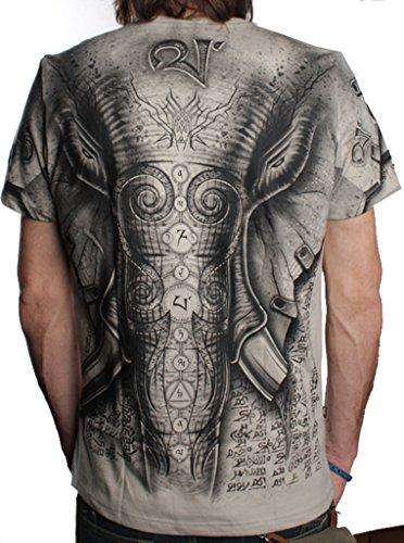 Camiseta Elefante - Ropa Urbana Exclusiva con serigrafía Original Frontal y Posterior para Hombre