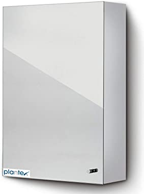 Plantex Platinum 304 Stainless Steel Bathroom Cabinet with Mirror Door/Bathroom Accessories(Size 14 X 20 Inches)