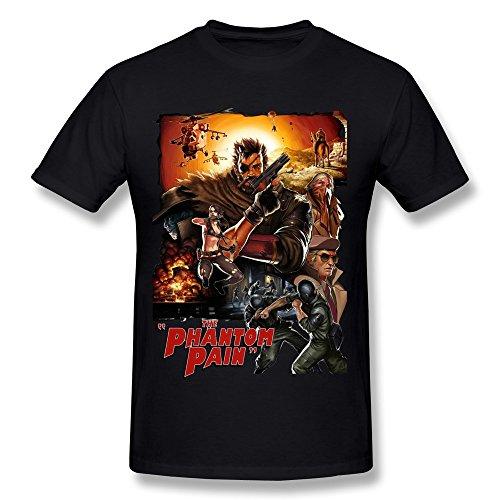 sneakeye Men's Metal Gear Solid 5 V O-neck Tshirts Black