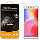 (2 Pack) Supershieldz for Xiaomi Redmi 6 and Redmi 6A Tempered Glass Screen Protector, Anti Scratch, Bubble Free