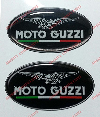 2 Guards Knees Side Tank 3D Compatible for Moto Guzzi V7 New