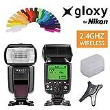 Gloxy GX-F1000 HSS Auto FP 1/8000s i-TTL Flash Para Nikon D3400, D3200, D3300, D7100, D5100, D5200, D5300, D500, D7000, D800, D90, D600