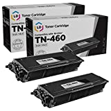LD Compatible Toner Cartridge Replacement for Brother TN460 High Yield (Black, 2-Pack)