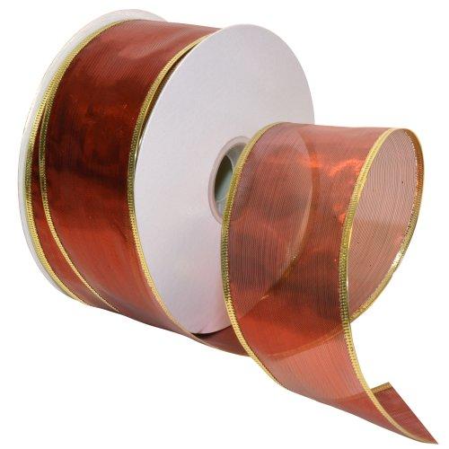 Morex Ribbon Gleam Ribbon, 2.5' x 50 Yd, Red