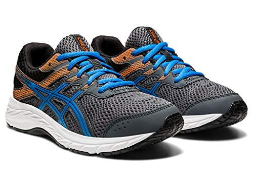 ASICS Kid's Contend 6 GS Running Shoes, 6M, Carrier Grey/Directoire Blue
