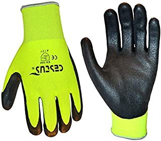 Cestus NS Grip Latex Micro-Coated Glove, Green, Small