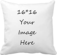 RR&DDXU Design Image or Text of Customize Pillowcase, Personalized Mother's Gifts Throw Pillow, Pet Photo Pillow Cover, Love Photo Pillowcase, Wedding Keepsake Throw Pillow, (16