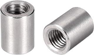 uxcell ラウンドカップリングナット スリーブロッドバースタッドナット 304ステンレス鋼 高さM8x15mm 5個入り