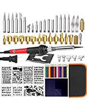 Wood Burning Kit, IROMEOU 70PCS Professional Pyrography Pen Set, Wood Burner Pen Tool for Wood Burning/Carving/Embossing/Soldering, with Adjustable Temperature Switch