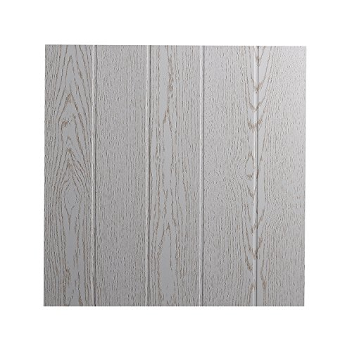 DECOSA Deckenplatten ATHEN in Holz Optik - 16 Platten = 4 m2 - Deckenpaneele in Esche weiß Dekor - Decken Paneele aus Styropor - 50 x 50 cm