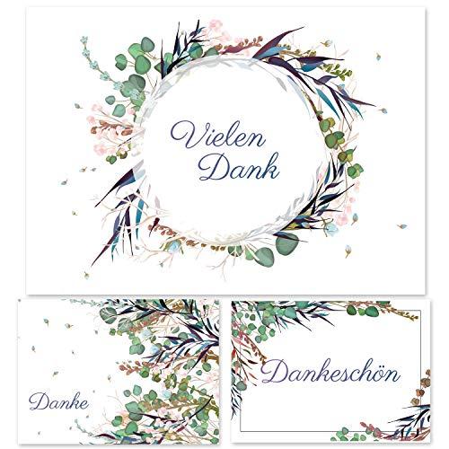12 Dankeskarten Set, Dankeskarte, Karte Danke, Postkarte Danke, Dankeschön Karten, Thank you cards, Dankeskarten Hochzeit, Danke Karten DIN A6