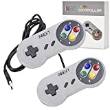 iNNEXT® 2x Classic USB Gamepad Retro Controlador USB de juegos SNES para Windows, PC, Mac y Raspberry Pi System