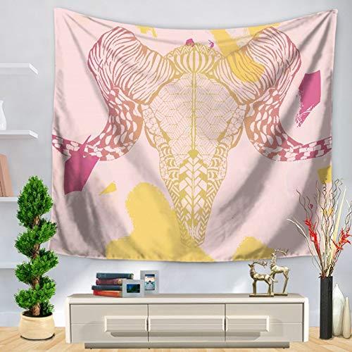 KHKJ Tapiz Colgante de Pared de Alpaca decoración del hogar Manta sábana Arte Hippie Tapiz para Sala de Estar Estera de Camping A19 95x73cm
