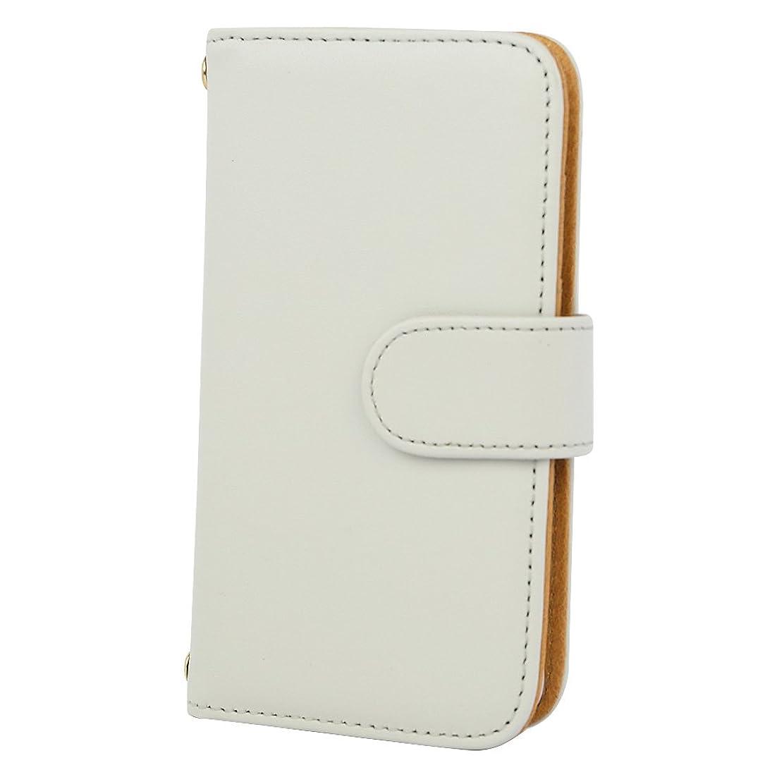 [スマ通] iPhone SE スマホケース スマホカバー 携帯ケース 携帯カバー カバー ケース 手帳型 本革 ホワイト Apple アップル アイフォン エスイー docomo au SoftBank SIMフリー