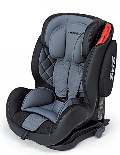 Foppapedretti Kindersitz 9 – 36 kg – Linie Isodinamyk grau – 9 Monate bis 12 Jahre