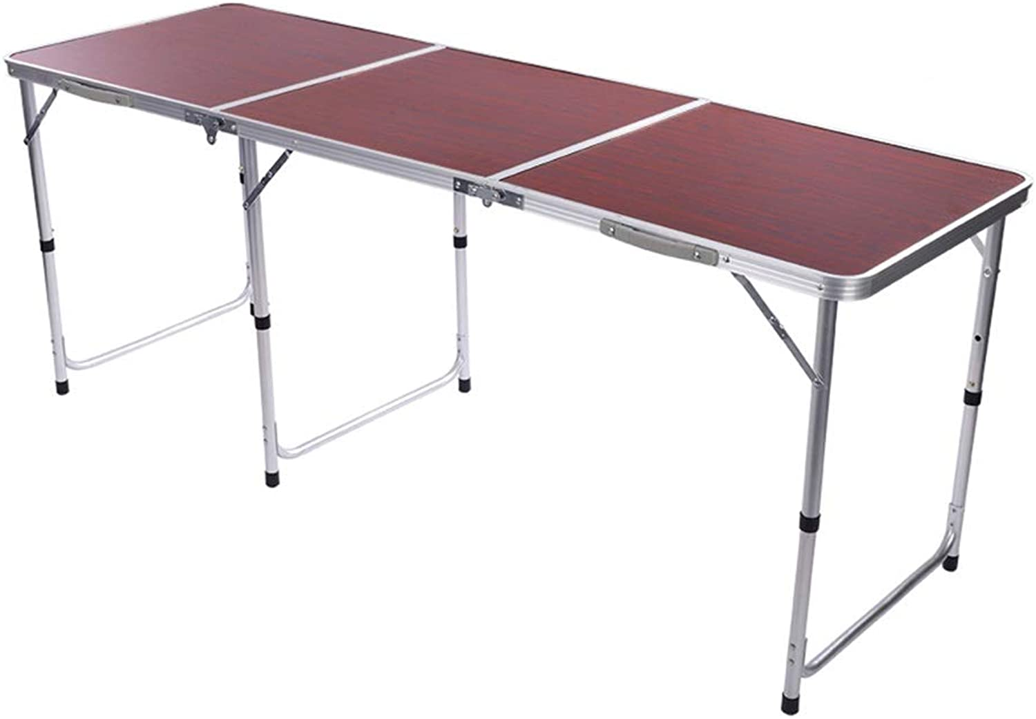 Casual Folding Table, Aluminum Alloy Can Be Lifted and Lowered, Suitable for Camping Picnics (3 colors) (color   Jujube Red)