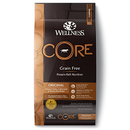 WELLNESS CORE Original Turkey & Chicken Dry Dog Food, 24-Pound Bag