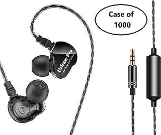 $6599 » Listener Pro in Ear Monitor Earphone, Dual Drivers/Stereo/HiFi/Heavy Bass Earbuds for Music/DJ/Sports, Waterproof/3.5mm/Wired (Case of 1000)