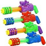 JOYIN Juego de 4 pistola de agua de agua para remojar juguetes de verano para actividades acuáticas y fiestas en la piscina