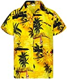 Funky Camicia Hawaiana, Surf New, Giallo, XL