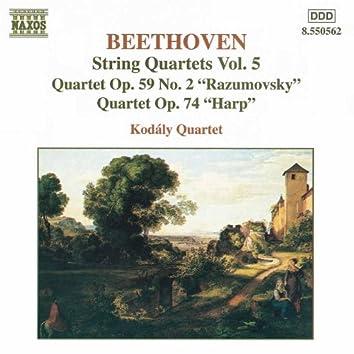 BEETHOVEN: String Quartets Op. 59, No. 2, 'Rasumovsky' and Op. 74, 'Harp'