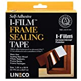 Lineco Self-Adhesive I-Film Frame Sealing Tape 1.25'' x 85 ft. Durable, Flexible, Puncture Resistant for Easy Application. Helps Acids, Corrosive Gases, and Resists Mold and Mildew.