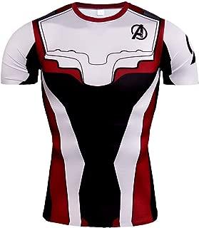 Men's Super-Hero Compression Sports Fitness Quantum 3D Print T-Shirt Quick-Drying