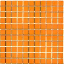 Glasmosaik Fliesen orange braun wei/ß Wand Boden Dusche WC K/üche es-41077/_f 10 Matten Art