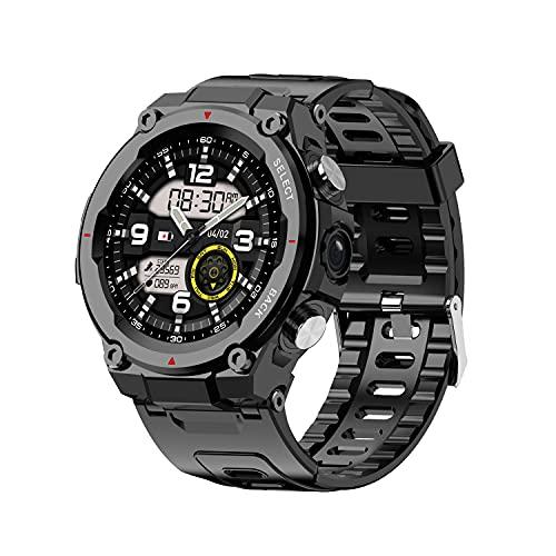 Jsdufs Smartwatch Reloj Digital con Pantalla táctil de 1,28 Pulgadas IP68 Reloj Deportivo a Prueba de Agua Reloj Deportivo con Monitor de sueño, recordatorio de información y función de podómetro