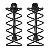 55 Sport Elastic Lock Shoelaces For Running & Triathlon, Black