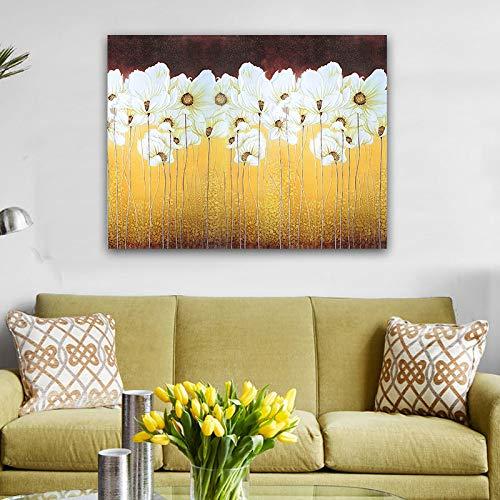 GJQFJBS Stampa su Tela Paesaggio Parete Decorazione Domestica Arte bambù Pietra Nera Tela Soggiorno Arte Murale A3 70x100cm