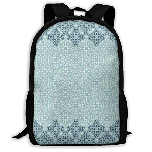 Travel Backpacks,Laptop Computer Bag,Adult Rucksack,Carry Everyday Bookbag,Modern Design with Eastern Ethnic Style Forms Ivy Frame Like in Two Women & Men Durable Casual Daypack for School Business