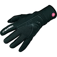 Material: [body] GORE Windstopper X-Fast, [lining] fleece, [cuff] neoprene, [thumb panels] microsuede Closure: hook-and-loop cuff Recommended Use: cycling Manufacturer Warranty: 1 year