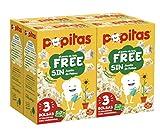 Popitas Free Pack 3. caja 4u.   Palomitas de Maíz para Microondas