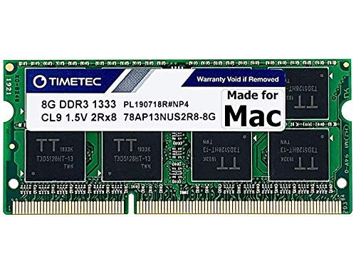 Timetec Hynix IC 8GB DDR3 1333MHz PC3-10600 SODIMM Memory Upgrade For MacBook Pro,iMac,Mac Mini (8GB)