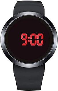 Scpink Maschi digitale impermeabile toccare orologio da polso LED silicone cinturino data calendario sportivo elettronico ...