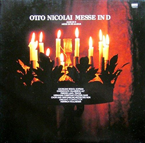 NICOLAI, Otto: Messe in D-dur-C-dur n.1 fur Altblockflote; Sonate F-dur aus
