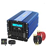 3000Watt Pure Sine Wave Power Inverter 12V DC to 120V AC with Remote Control & LCD Display 4 AC...