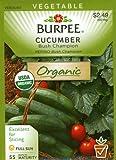 Burpee 67455 Organic Cucumber Bush Champion Seed Packet