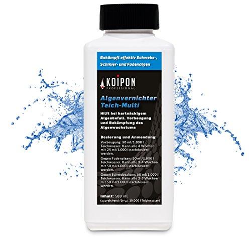 KOIPON Algenvernichter Teich Multi 500 ml, Fadenalgenvernichter & Schwebealgen Vernichter gegen Fadenalgen und Schwebealgen im Gartenteich