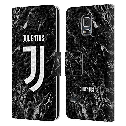 Head Case Designs Licenza Ufficiale Juventus Football Club Nero Marmoreo Cover in Pelle a Portafoglio Compatibile con Samsung Galaxy S5 / S5 Neo
