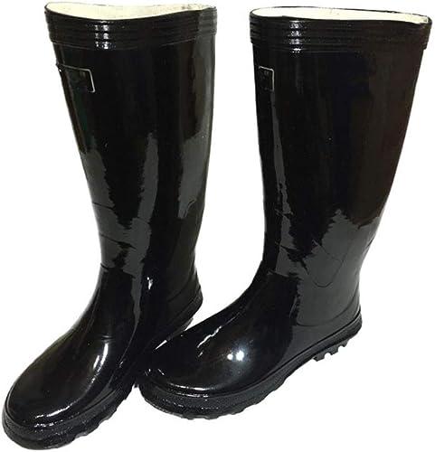 Stiefel De Lluvia TCFYXT Stiefel De Goma schuhe De Hombre Estilo Antiguo Tubo Alto Hausschuhe De Agua Resbaladizas Stiefel De Trabajo TCFYXT (Tamaño   43 EU)